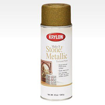 Make It Stone! Metallic аэрозоль Текстурный Металл, 340гр. Gold - Золото Krylon 8260
