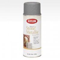 Make It Stone! Metallic аэрозоль Текстурный Металл, 340гр. Silver - Серебро  Krylon 8261